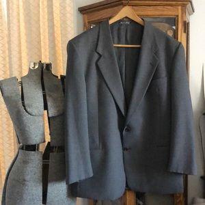 Valentino Uomo Gray Virgin Wool Suit Jacket 44R
